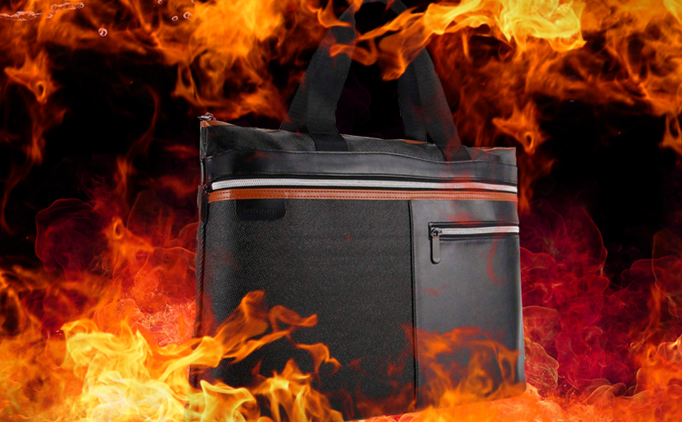 Fireproof bag capable of resisting high temperature, Fireproof bag surrounded by fire