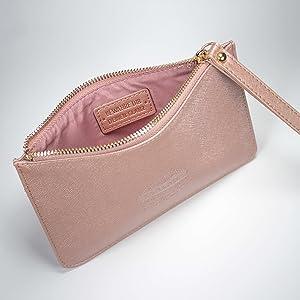 Clutch & Kosmetiktasche Farbe rosegold