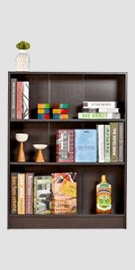 DeckUp Muvo Book Shelf/Display and Storage Unit (Dark Wenge, Matte Finish SPN-FOR1