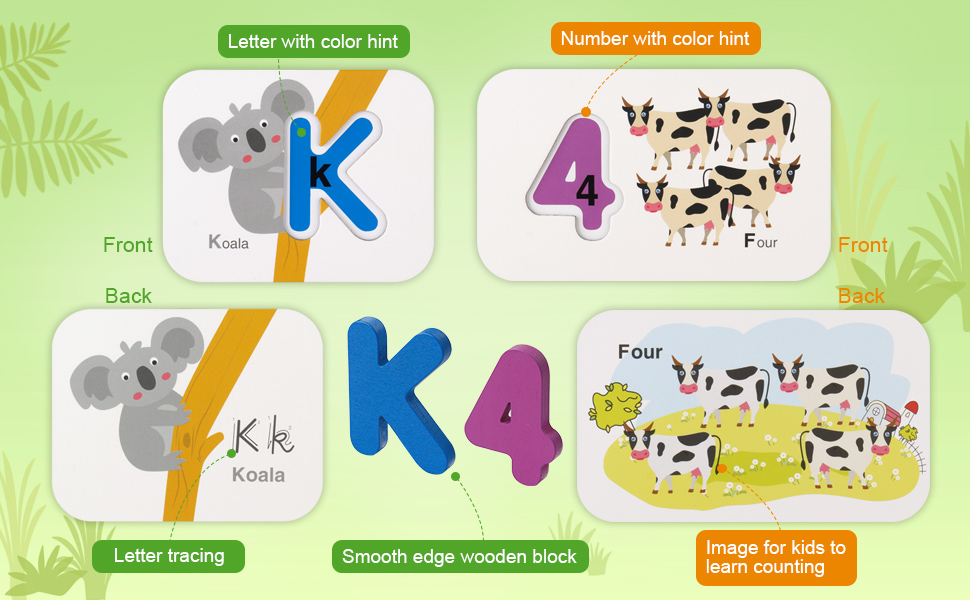 Floss /& Rock Alphabet Flash Cards A is for Anchor Educational Learning Toy Gift