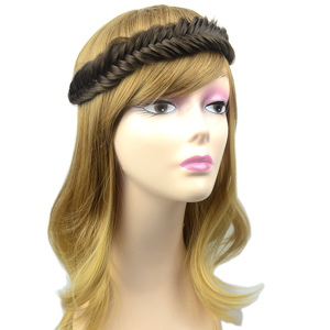 Wide Fishtail 2 Strands Braided Headband
