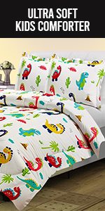 Kids Animal Print Comforter Set Twin with 2 Pillowcases