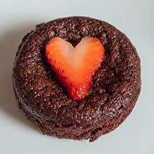keto brownies heart