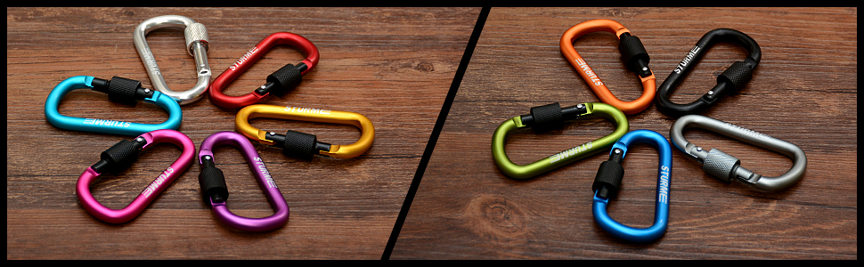 3 inch carabiner locking srewgate carabiner clip