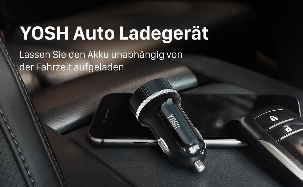 Yosh Auto Ladegerät 24w 2 Port Mini Kfz Ladegerät 5v Elektronik