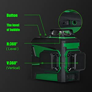 Green Laser Level Self Leveling Cross Line Laser Level