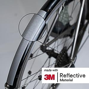 Rouleau Adhésif Réflecteur 5x100cm Haute Visibilité Vélo Voiture Moto