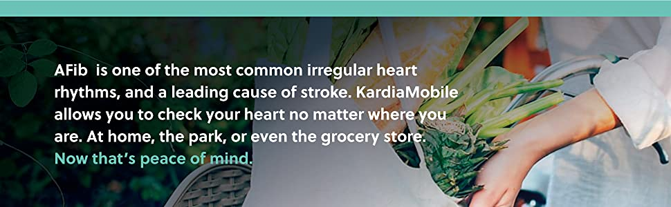 Afib is leading cause of irregular heart rhythms and leading cause of stroke. Get peace of mind