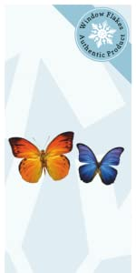 Butterfly anti-collision window cling decal stickers