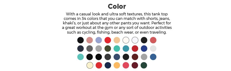 Men's Premium Basic Casual Athletic Tank Top Color