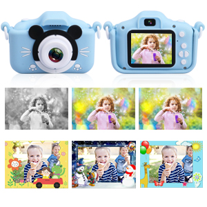 Kids Camera, Digital Selfie Camera 20MP 1080P HD Video Recorder IPS Screen Toddler Cartoon