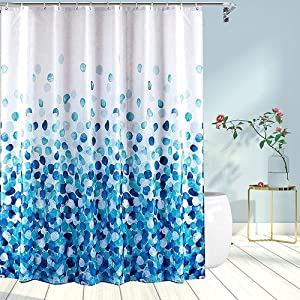 Shower Curtain Waterproof (Blue Petal)