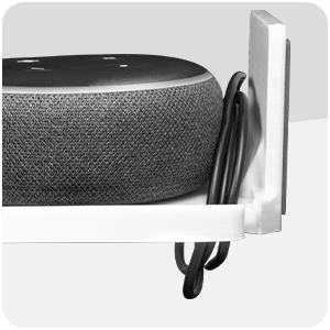 Drill Free Wall Mount Shelf for Security Cameras, Baby Monitors, Speakers & More, Universal Holder
