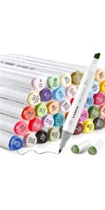 60 Colors Alcohol Art Markers