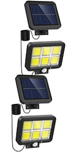 120 COB LED Solar Motion Sensor Lights 2 Pack
