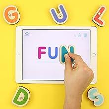 tablettes jeu enfant lettres