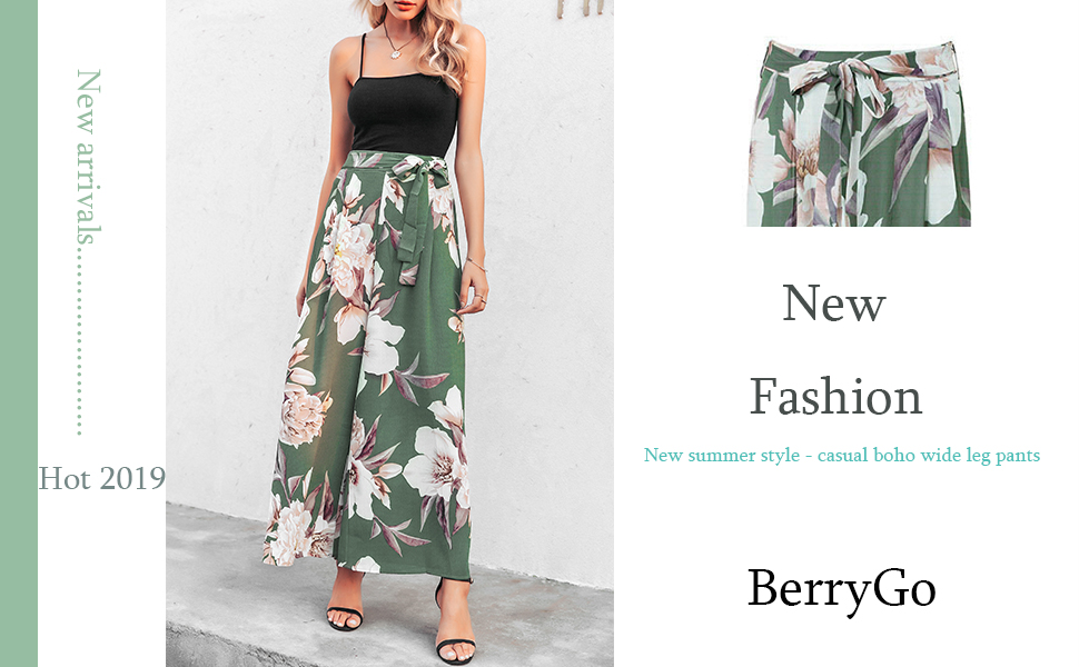 Ladies Womens Navy Full Length Floral Print Tropical Crepe Summer Trousers