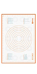 Extra Large Pastry Mat Comparison Chart