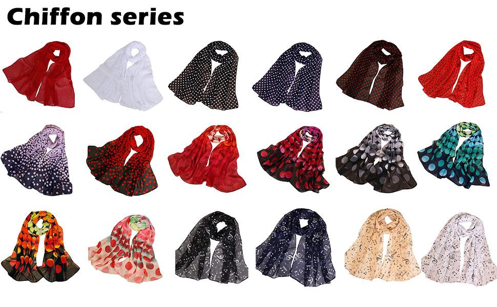 Chiffon scarf for women ladies scarfs dot scarf music scarf circle scarf soft thin cool high quality