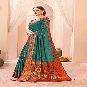 banarasi silk sarees for women art silk saree cotton kanjivaram sari under 1000 latest party wear
