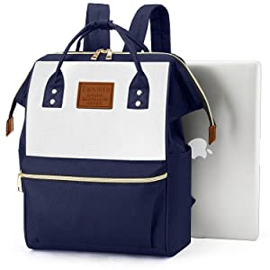 Bookbag With 14-Inch Laptop Compartment Navy Blue School Laptop Backpack For Teen Girls and Boys Travel Daypack