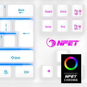 The colorful rainbow Backlit can bring you into a great gaming Keyboard atmosphere.