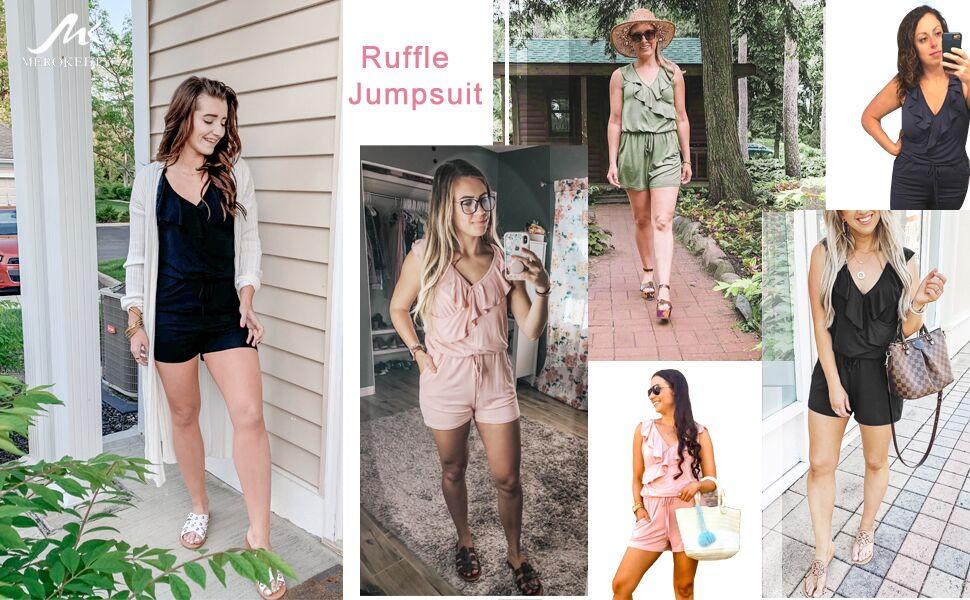 Little Girls Peach Ruffled Neckline Elastic Waist Sleeveless Blouse Top 4-6