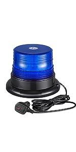12V 24V blue strobe beacon light with magnetic base