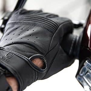 scooter UJET Guanti in pelle da uomo e unisex moto e motocicli S ideali per uso touchscreen