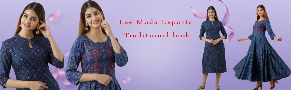 Lee Moda Rayon Anarkali Kurta