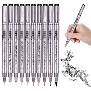 Black Archival Ink Artist Drawing Sketch Brush Pen