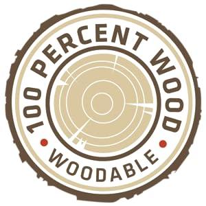 100% wood