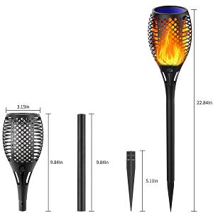 Lumière solaire de torche