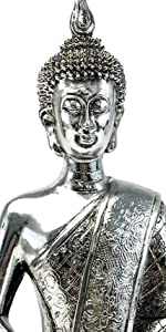 Buddha Statues Meditating Budha Figurine Sitting Seated Shakyamuni Lotus Dhyana Mudra