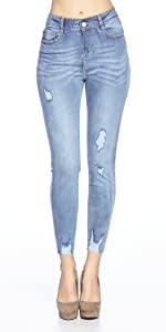 Knee Ripped Skinny Jeans