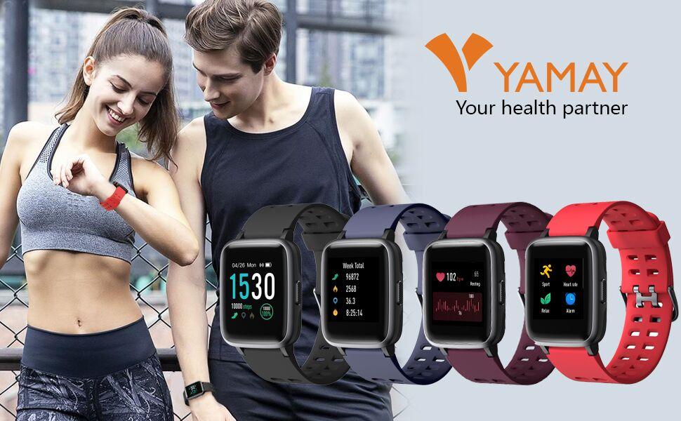 YAMAY Smartwatch, Impermeable Pulsera Actividad Inteligente para Deporte