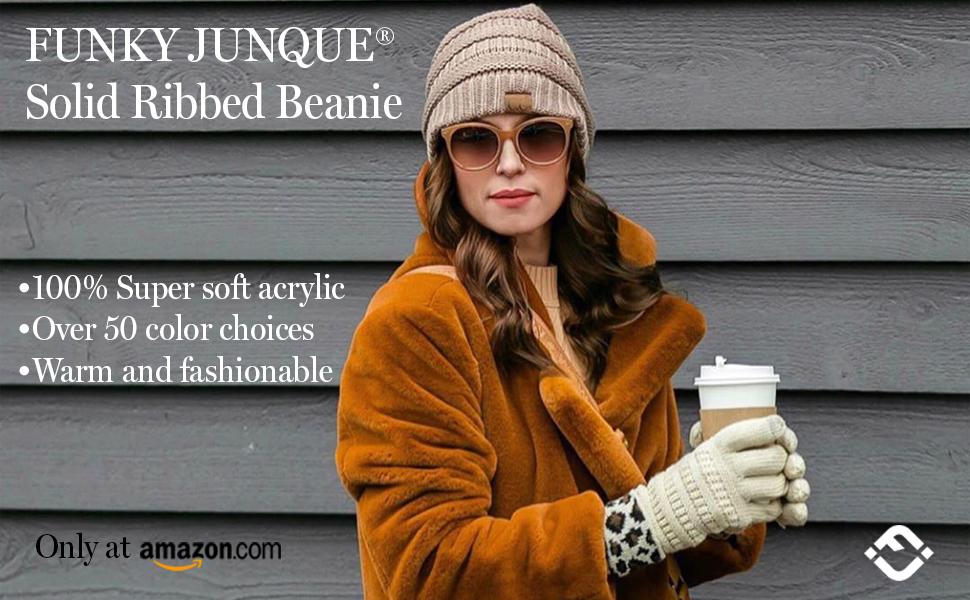 cc beanie confetti knit solid beige black oatmeal ivory white basic classic warm winter soft hat cap