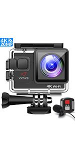 Victure AC800 Cámara Deportiva Wi-Fi 4K Ultra HD 20MP (Action ...