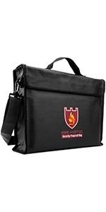 """Large  Fireproof Document Bag"