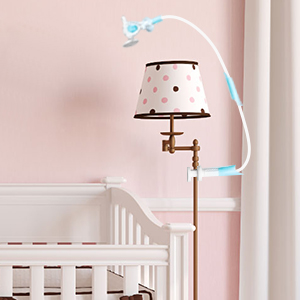 Attach to the object beside cot