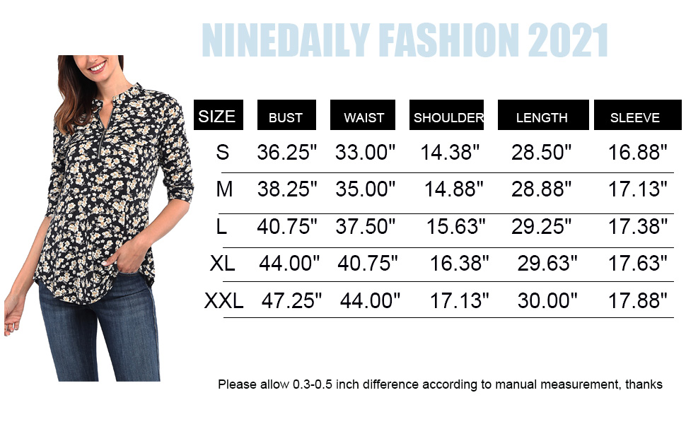womens Tops fashion 2021 tunic shirts chiffon blouse floral western business office work casual