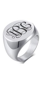 Mnogram Ring