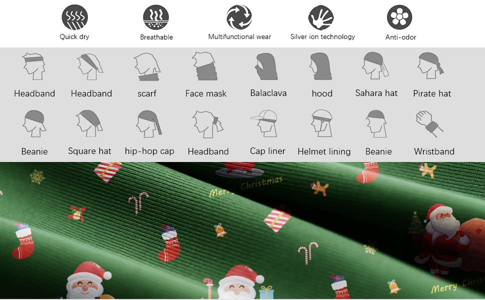christmas cycling scarf