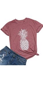 XOXO Plaid Heart Print Graphic T-Shirts