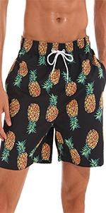pantalones cortos de playa estampados para hombres