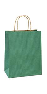 "BagDream 8X4.75X10.5"" Green Gift Bags 100PCS"