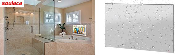 soulaca miroir led etanche smart tv android 7 1 pour salle de bain ou douche montage mural 22