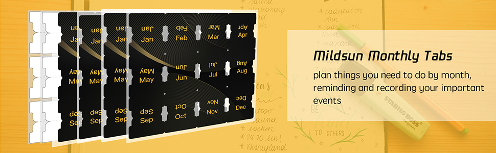 Self Adhesive Monthly Tabs-7
