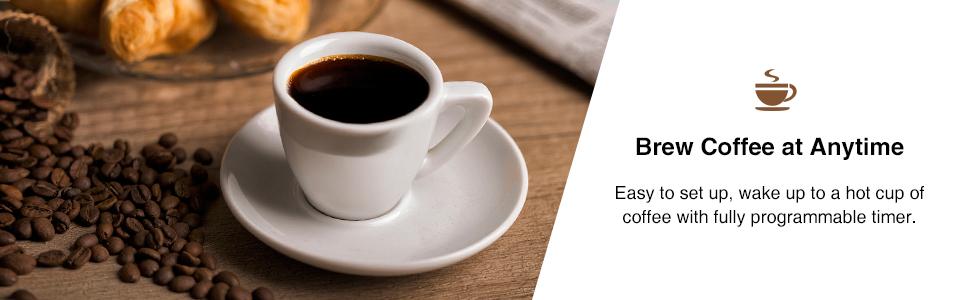 Bonsenkitchen 12 Cup Programmable Drip Thermal Coffeemaker