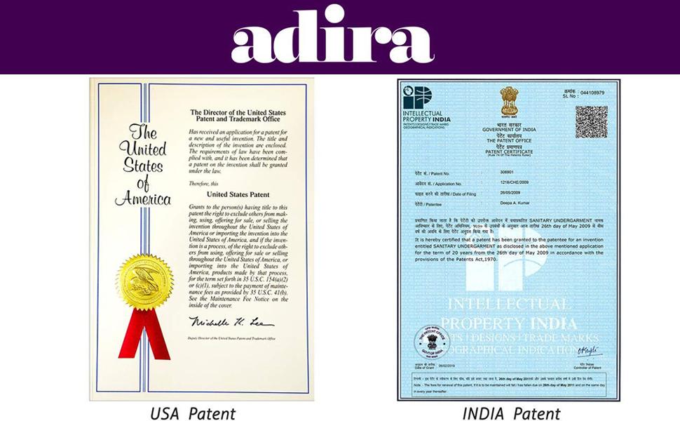About Adira, Adira Period Panties, Adira Patented Products